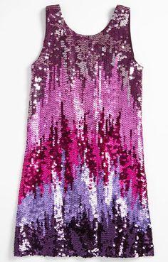 REVEL: Ombre Sequin Flower Girl Dress