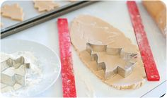 cinnamon-sugar cut-out cookie recipe + pastel christmas tree cookies tutorial