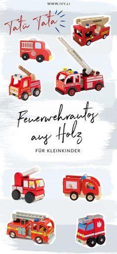 Die schönsten Feuerwehrautos aus Holz für Kleinkinder | Feuerwehrfahrzeuge als Geschenkidee für Kinder zwischen 1 und 3 Jahren | Weihnachten | Geburtstag | Holzspielzeug | Spielsachen | Jungs | Mädchen | Wertiges Spielzeug | ivy.li