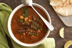 Zupa harira Orzo, Chana Masala, Chili, Beef, Ethnic Recipes, Food, Meat, Chile, Essen