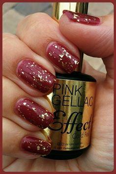 Pink Beauty Club shared Bianca Van Dijk-van Parijs's photo.   111 rustic red met 2 laagjes gold foil ♥