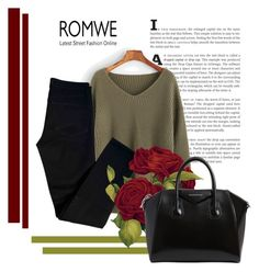 """""""ROMWE"""" by aleksandra15-1 ❤ liked on Polyvore featuring J Brand and Givenchy"""