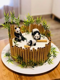 Fondant Cupcakes, Cupcake Cakes, Easy Cheesecake Recipes, Easy Cookie Recipes, Food Cakes, Bolo Panda, Panda Cakes, Chip Cookie Recipe, Cake Mix Cookies