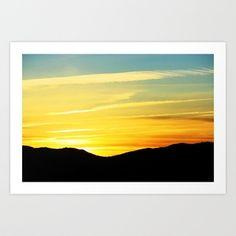 Reno Sunrise Art Print by Chris ~ Fluxbits Photography