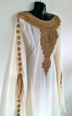 Egyptian Goddess Abaya Caftan Gold Embellished Kaftan by Jywal