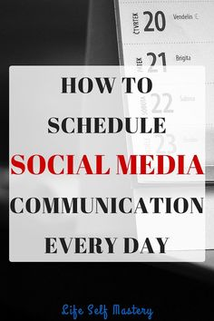 How to schedule social media communication every day