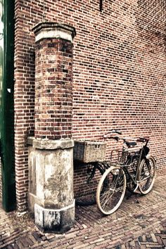 Bikes in the ancient town..
