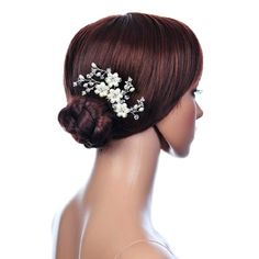 Remedios Crystal Flower Hair Comb Wedding Accessory for Bride Headpiece >>> More info could be found at the image url.(This is an Amazon affiliate link and I receive a commission for the sales)