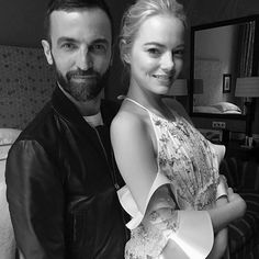 Fashion news alert: Emma Stone is the latest Louis Vuitton ambassador. Here she is with @louisvuitton's women's artistic director @nicolasghesquiere before the red carpet event for her new movie #BattleoftheSexes. via ELLE SINGAPORE MAGAZINE OFFICIAL INSTAGRAM - Fashion Campaigns  Haute Couture  Advertising  Editorial Photography  Magazine Cover Designs  Supermodels  Runway Models