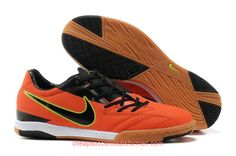 Nike T90 Shoot IV IC Indoor Soccer Shoes Soccer Cleats Red Black Fluorescent Yellow