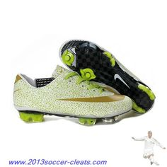 cafbe7c5d792 Buy 2013 New Cristiano Ronaldo Nike Mercurial Vapor Superfly III FG White  Gold Volt Safari Soccer Boots Shop