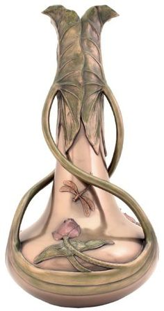 Dragonfly & Lotus Vase
