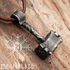 Best selection of Norse And Viking jewelry, handmade items and merchandise. Buy high quality accessories, and anything related to Vikings and pagans. We ship worldwide. Vikings, Thor's Hammer Mjolnir, La Forge, Blacksmith Projects, Viking Jewelry, Leather Necklace, Metal Art, Metal Working, Jewelry Stores