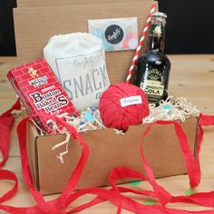 Surprise Ball Goody Box - Cola Goody Box - Send A Gift // Thank You Gift // Birthday Gift // Congratulations Gift // Get Well Gift // Smile by ConfettiGiftCompany on Etsy