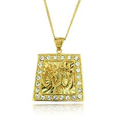 Luxurious Allah Necklace Pendant Religious Spiritual Jewelry * For more information, visit image link.