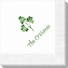 Three Clovers Napkin