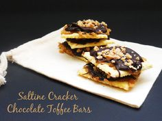 Saltine Cracker Chocolate Toffee Bars Very quick and easy to make