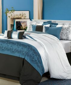 Take a look at this Blue Pacific Comforter Set by Chic Home Design on #zulily today!