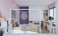 Awesome kids room design with colorful theme.