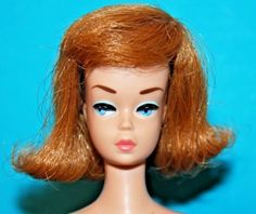 Vintage-5-Barbie-Fashion-Queen-wTitian-Wig-JAPAN-transitional-body-Barbie-mark