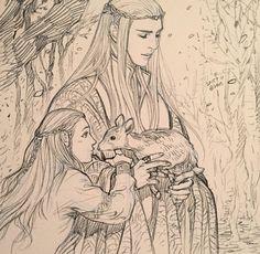 Thranduil and Legolas - EVANKART