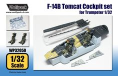 1/32 F-14B Tomcat Cockpit set (for Trumpeter) : Plastic Hobby