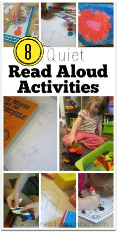 8 QUIET READ ALOUD ACTIVITIES that literally saved our read aloud time ~ if you have young kids, these are perfect to keep them focused and quiet! | This Reading Mama