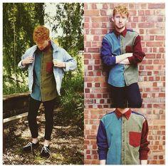 Robbie Cook - Vintage Shirt, Denim Jacket, Suede Shoes - Retro