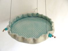 Turquoise Textured Hanging Platform Bird Feeder Rkc119