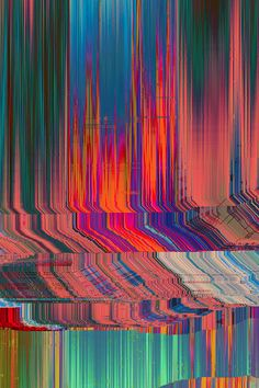 "Glitch art is the aestheticization of digital or analog errors, such as artifacts and other ""bugs"", by either corrupting digital code/data or by physically manipulating electronic devices (for example by circuit bending). Glitch Art, Psychedelic Art, Grafik Design, Op Art, Graphic, Textures Patterns, Art Inspo, Contemporary Art, Art Photography"