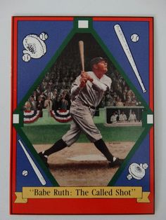 1992 Delphi Babe Ruth The Called Shot Baseball Card #Delphi #NewYorkYankees