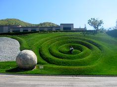 Swirl in the grass in West Lake Village, California