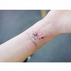"""5,286 Likes, 11 Comments - 타투이스트 바늘 (@tattooist_banul) on Instagram: """": Magnolia 목련 . . #tattooistbanul #tattoo #tattooing #flower #flowertattoo #colortattoo #magnolia…"""""""