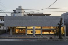 Public Architecture, Japanese Architecture, Oita, Best Web Design, Building Facade, Ground Floor, Interior And Exterior, Beams, Concrete