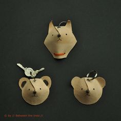 Animal Key Chain :: DIY by // Between the Lines //, via Flickr