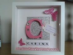 Personalised Scrabble Art Baby girl by ScrabbleArtbyLou on Etsy
