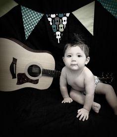 1st birthday groovy guitar