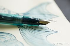 Goulet Pens Blog: Monday Matchup #41: Noodler's Ahab Flex - Truk Lagoon with Super5 Atlantic