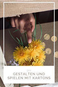 Pappkartons sind fantastische Selbstläufer. Sie regen die Phantasie im Nu an und sind allzeit bereit, sich sogar auf den Kopf zu stellen, um den Ideen der Kinder Raum und Gestalt zu geben. Kartons sind wandelbar wie kaum ein anderes Spielmaterial. Cool Diy, How To Dry Basil, Herbs, Rain, Cool Crafts, Herb, Medicinal Plants
