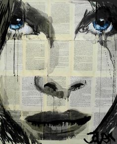"""Saatchi Online Artist Loui Jover; Drawing, """"in the days (SOLD)"""" #art"""