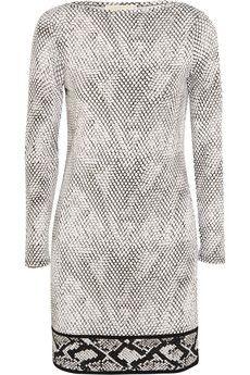 MICHAEL Michael Kors Snake-print stretch-jersey mini dress | NET-A-PORTER