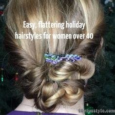Holidays can be a great time to try some new things with your hairstyle, add some fun hair accessories and a touch of drama and glimmer. And holiday hair doesn't have to be expensive or difficult to s