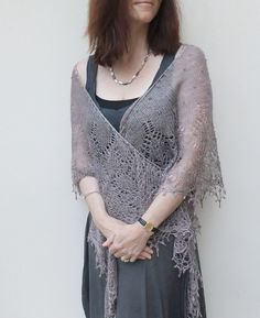 Out of Darkness Lace Shawl - Boo Knits