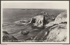 Enys Dodman and the Armed Knight, Land's End, Cornwall, 1955 - RA Series RP Postcard