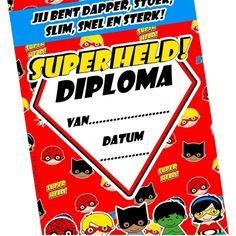 Superheld diploma na de superheldengym!