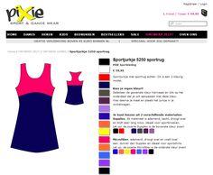 ontwerp-je-eigen-sportkleding bij PIXIE.NL Design your own style Sportswear at http://www.pixie.nl/ontwerp-zelf-sportkleding/dames-zelf-sportkleding-ontwerpen.html