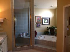 """Blue """"before"""" picture. Master Bath"""