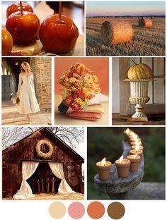 fall mood board. rustic autumn wedding.