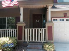 Exterior wrought iron porch railings Wrought Iron Porch Railings, Garage Doors, Exterior, Outdoor Decor, Design, Home Decor, Modern, Interior Design, Outdoor Rooms