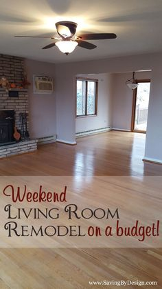 Take a look at our weekend living room remodel on a budget...who says you need tons of time or money to create a great space?!